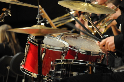 Schlagzeug einer Jazz-Band