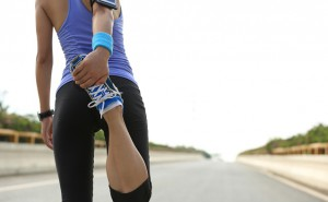 Eine junge Läuferin