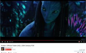 Screenshot Avatar Movie YouTubeTrailer